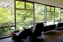古岩屋温泉の休憩所